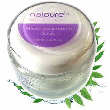 Microdermabrasion Facial Scrub by Nalpure Skin Care Products, At Home Professional Strength Exfoliating Effective Anti Aging Skincare, Reduces Blemishes and Imperfections, Improves Skin Tone