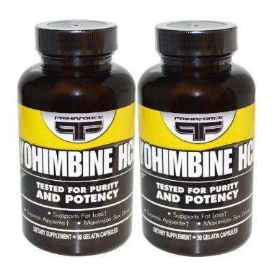 Yohimbine Hcl Supplements Primaforce 90 Vegetarian Capsules (2 Pack)