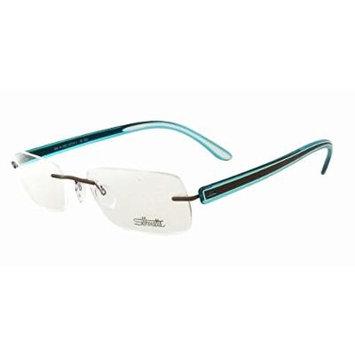 Silhouette Designer Rimless Reading Glasses Modern Shades 5250-6050-5248 ; DEMO LENS
