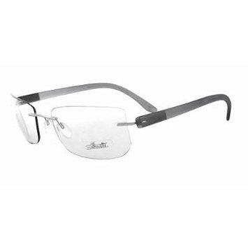 Silhouette Designer Rimless Reading Glasses Enviso 7608-6060-7702 ; DEMO LENS
