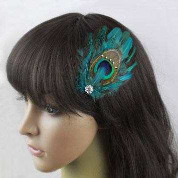 Nero Women's Handmade Peacock Feather Fascinator Headpiece, Fascinator Hair Clip