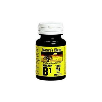 Nature's Blend Vitamin B-1 Tablet, 100 mg, 100 CT (PACK OF 2)
