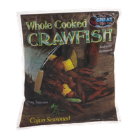 The Great Fish Co. Whole Cooked Crawfish Cajun Seasoned