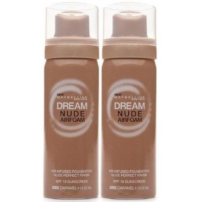 Maybelline Dream Nude Airfoam Air-Infused Foundation 350 CARAMEL (PACK OF 2)