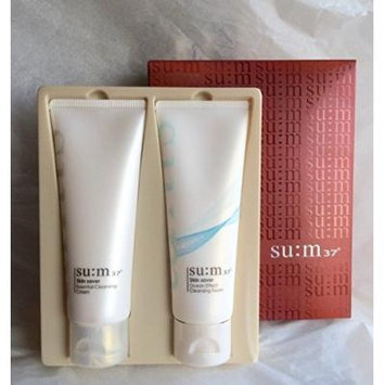 2015 New Edition - SUM37 SU:M 37 Skin Saver Gift Set 2 Items (Cleansing Cream and Cleansing Foam)