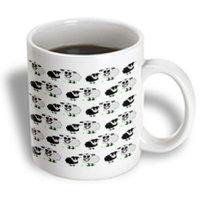 Recaro North 3dRose - Janna Salak Designs Farm Animals - Cute Black and Grey Sheep Print - 11 oz mug