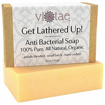 Certified Organic ANTIBACTERIAL Soap - by Vi-Tae® - 100% Pure, All Natural, Aromatherapy Herbal Bar Soap - 4oz