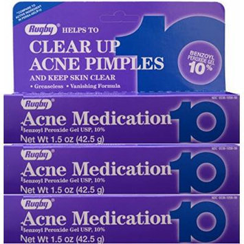 Benzoyl Peroxide 10 % Generic for Persa Gel 10 Maximum Strength Acne Medication Gel for Treatment and Prevention of Acne Pimples, Acne Blemishes, Blackheads or Whiteheads. 1.5 oz. per Tube Pack 3 Total 4.5 oz.