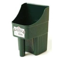 Miller Mfg. Miller Enclosed Feed Scoop Green 3 Quart - 150422