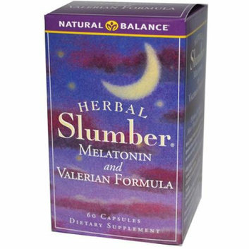 Natural Balance Herbal Slumber Melatonin and Valerian Formula 60 Capsules