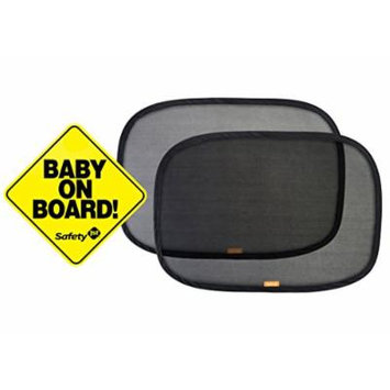 Safety 1st Baby On Board Sign Magnet with Pop Open Cling Window Shades