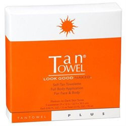 Tantowel Plus Evolution Plus, Total Body Self-Tan Towelette, 5 ea