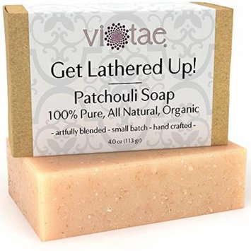 Organic PATCHOULI Soap - by Vi-Tae® - 100% Pure, All Natural, Aromatherapy LUXURY Herbal Bar Soap - 4oz