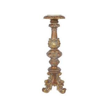 Regency International Baroque Candle Stick - Size: 16 H x 5.12 W x 4.92 D, Color: Antique Gold