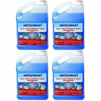 Wet and Forget 800006 1 Gallon Outdoor Moss Mold Mildew Cleaner Remover, 4-Pack