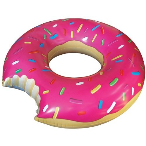 Big Mouth Toys BigMouth Inc Gigantic Donut Pool Float (Strawberry Frosted with Sprinkles)