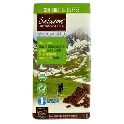 Salazon Chocolate Co. Organic Dark Chocolate Bar Sea Salt & Coffee 3 oz
