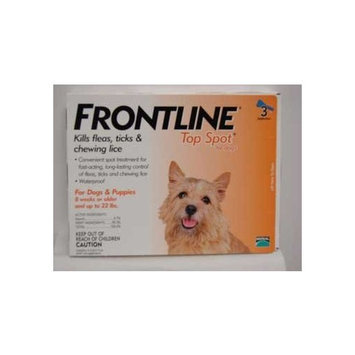 Frontline DFRSMALL 3-Pack 1 to 22-Pound Top Spot Dogs Flea and Tick Protection, Small, Orange
