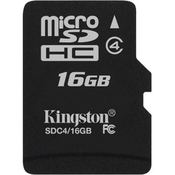 Kingston - Flash memory card - 16 GB - Class 4 - microSDHC