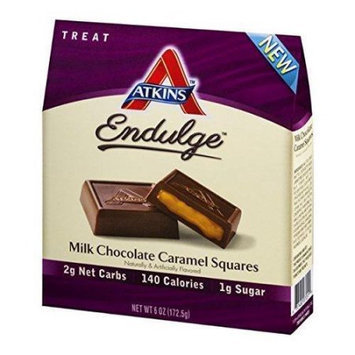 Atkins Endulge Pieces - Milk Chocolate Caramel Squares - 5 oz - 1 Case, (Pack of 6)