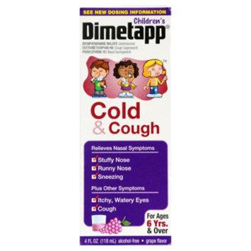 Dimetapp Children's Cold & Cough Liquid - Grape, 4 fl oz