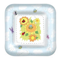 Beistle 58014 9Garden Plates for Party Decorations