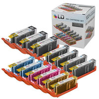 LD Canon Compatible PGI-250 & CLI-251 Set of 13 HY Cartridges: 3 Pigment Black (PGI-250XL), 2 Black (CLI-251XL), Cyan (CLI-251XL), Magenta (CLI-251XL), Yellow (CLI-251XL), Gray (CLI-251XL)