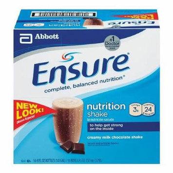 Ensure Nutrition Shake, 8 fl oz, Creamy Milk Chocolate 6 ea