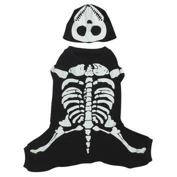 Casual Canine Glow Bones Pet Costume M