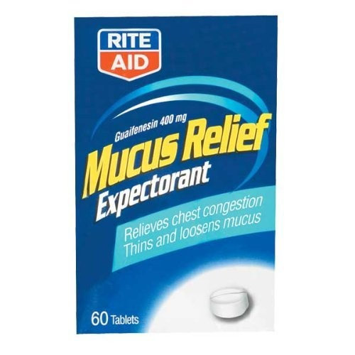 Rite Aid Brand Rite Aid Mucus Relief, Chest, 400 mg, Tablets, 60 ct