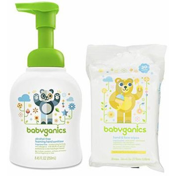 Babyganics Foam Hand Sanitizer with Hand Wipes, Fragrance Free