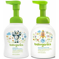 Babyganics Foam Hand Soap & Sanitizer Set, Fragrance Free