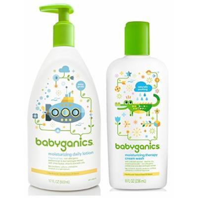 Babyganics Moisturizing Therapy Cream Wash with Daily Lotion