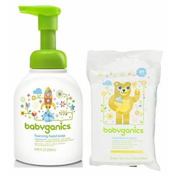 Babyganics Foaming Hand Soap with Sanitizer Wipes, Fragrance Free