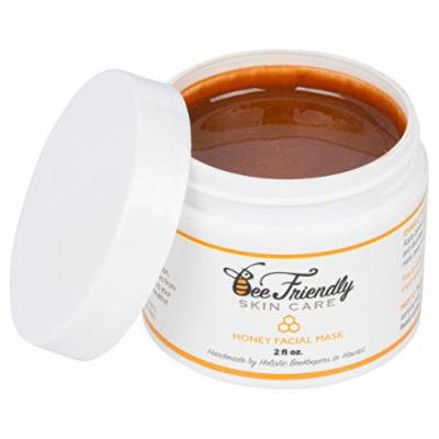 Honey Facial Mask 100% All Natural Raw Honey, French Pink Clay Revitalizing Face Mask by BeeFriendly, Leaves Skin Soft, Smooth, Youthful, Pulls Impurities, Enhances Collagen Production, Clears Acne
