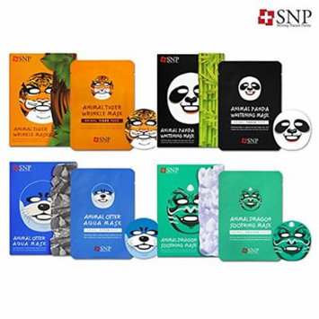 SNP Cosmetic Animal Character Printed Mask 10ea Box Case 4 Type (4 Set)
