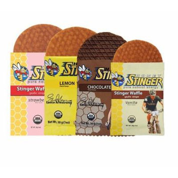 Honey Stinger Waffles Mixed 18 Count w/ MST Cordygen Nano2 Trial Pack