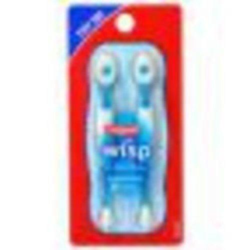 Colgate Wisp Peppermint - Mini Brush w/ Freshing Bead, 2 Brushes,(colgate)