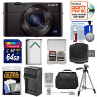 Sony Cyber-Shot DSC-RX100 III Wi-Fi Digital Camera with 64GB Card + Battery & Charger + Case + Tripod + Flash/Video Light + Kit