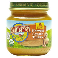 Earth's Best Organic Harvest Squash Turkey Baby Food, 4 oz. (12 Count)