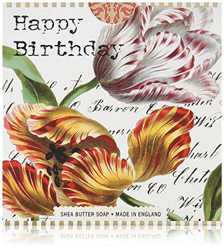 Michel Design Works Happy Birthday Tulips Little Shea Butter Soap
