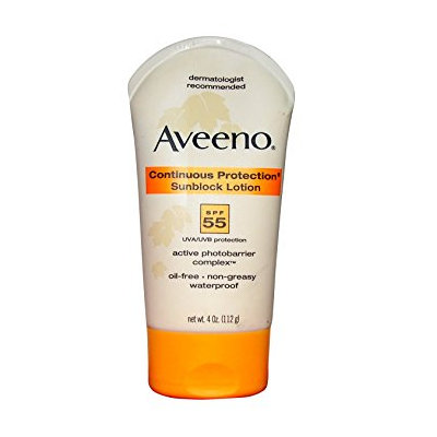 Aveeno® Continuous Protection Sunblock Lotion SPF 55