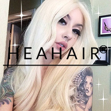 Heahair Handtied White Blonde Straight Affordable Synthetic Lace Front Wigs