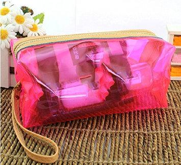 Goldendream Woman's Pink Cosmetic Makeup Bag with Zipper Travel Smart Waterproof Bikini Bag