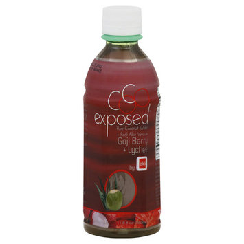 CoCo Exposed Pure Coconut Water, Real Aloe Vera with Goji Berry + Lychee - 11.8 fl oz