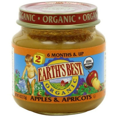 Earth's Best Organic Stage 2, Apples & Apricots, 4 Ounce (Pack of 12)
