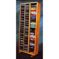 Wood Shed 21.25 in. VHS Storage Tower w Individual Locking Slots (Dark)
