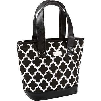 Fit & Fresh Melbourne Insulated Bag Black & White Ikat Tile - Fit & Fresh Travel Coolers