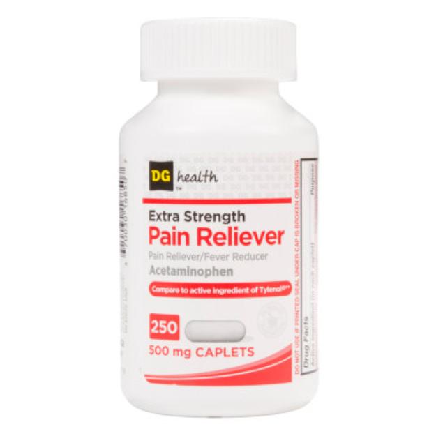 DG Health Extra Strength Pain Reliever - Caplets, 250 ct