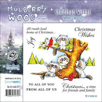 Crafters Companion Mullberry Wood EZMount Cling Stamp Set 4-3/4